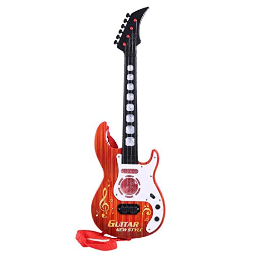 MZZYP Guitarra eléctrica Linda de 4 Cuerdas for niños, Children Rock Guitarra...
