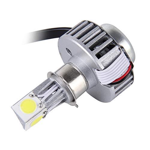 Tuzi Qiuge 25W 2500 LM 6000K Motorradscheinwerfer mit 3 LED-Lampen, DC 6-36V (weißes Licht) QiuGe (Color : White Light)