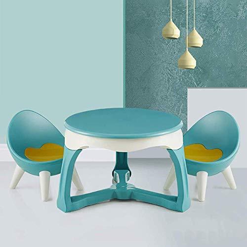 sjdxd - Set da tavolo e sedie per bambini, multifunzionali, per la camera da letto, per mangiare/imparare, giocare, facile da installare (colore: verde)