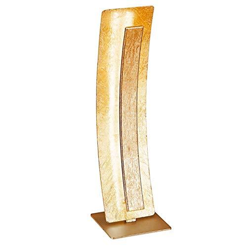 Paul Neuhaus Tischleuchte, Plastik, gold, 12 x 12 x 40,5 cm