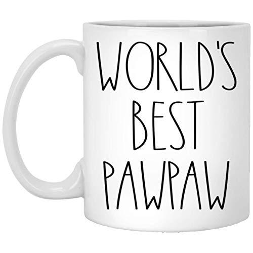 World's Best Pawpaw Mug | Pawpaw Rae Dunn Style Coffee Cup | Rae Dunn Inspired | The Best Pawpaw Ever Coffee Mug | Pawpaw Birthday Mug For Pawpaw Coffee Mug Tea Cup White 11oz