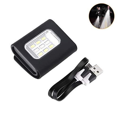 9 LED Mini Nachtlauflicht Sicherheitsleuchte Lauflicht Jogging Licht für Läufer Sichtbarkeit Reflektierendes Gear Armband für Wandern Joggen sehr groß verstellbar wiederaufladbar starker Magnet Clip