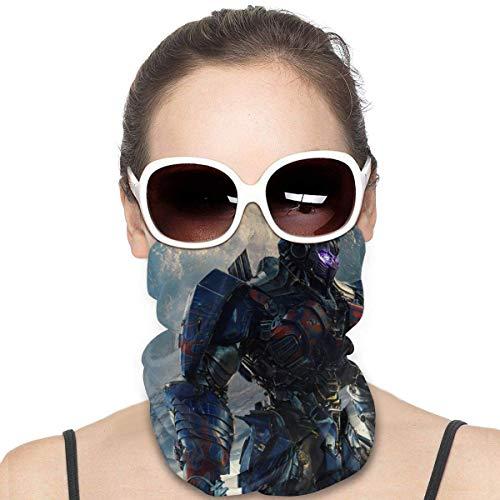 Quintion Robeson Optimus Prime Variety Pañuelo Facial a Prueba de Viento Pañuelo Facial sin Costuras Pañuelos multifuncionales Unisex Microfibra Variedad Pañuelo para la Cabeza Negro HDW-1549
