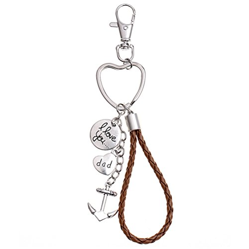 Luoem Porte-clés en forme de cœur de Père Noël Cadeau d'anniversaire de Noël
