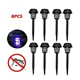 FILOL 8PC Solar Powered Bug Zapper Mosquito Killer UV LED Light, Lamp Waterproof