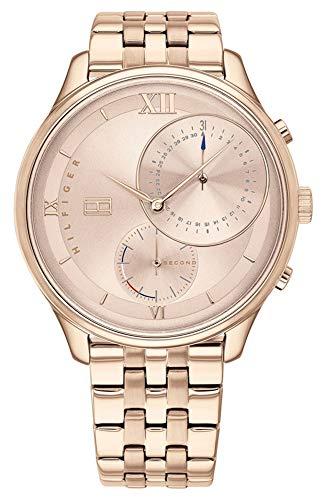 Tommy Hilfiger Multi Dial Quartz horloge voor dames met roestvrij stalen armband, met edelstaal