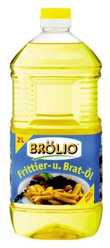Brölio Frittier- und Bratöl, 6er Pack (6 x 2 l Flasche)