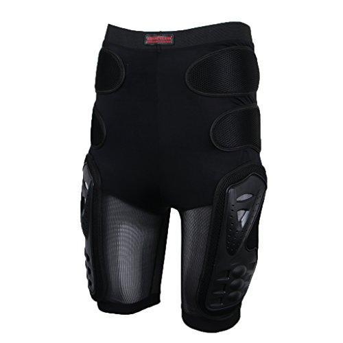 Générique MagiDeal Moto Racing Ski Armour Tampons Hanches Jambes Protecteur Shorts Pantalons - Noir, XL