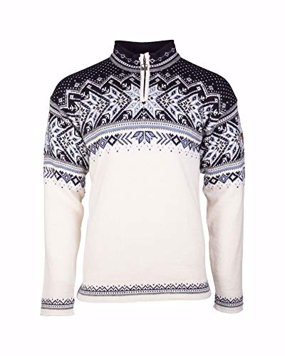 Dale of Norway Herren Vail Masc Langarm-Pullover XXL Off-White/Smoke/Midnight Navy/Navy Blue Shadow