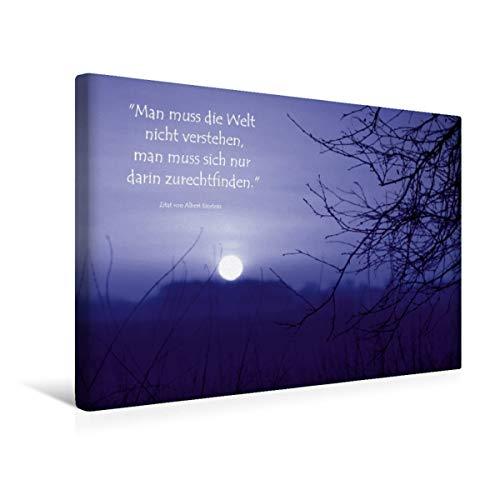 Premium - Lienzo de tela (45 x 30 cm, horizontal, místico puesta de sol en el loro del diablo cuadro sobre bastidor, imagen sobre lienzo auténtico) CALVENDO CALVENDO - CALVENDO