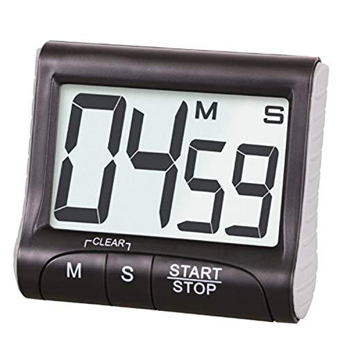 Aischens Timer da Cucina, Timer da Cucina Countdown con Grande Display Digitale, Timer da Cottura Digitale Magnetico, Allarme Timer di Cottura con Stand (Batterie Incluse, Nero)