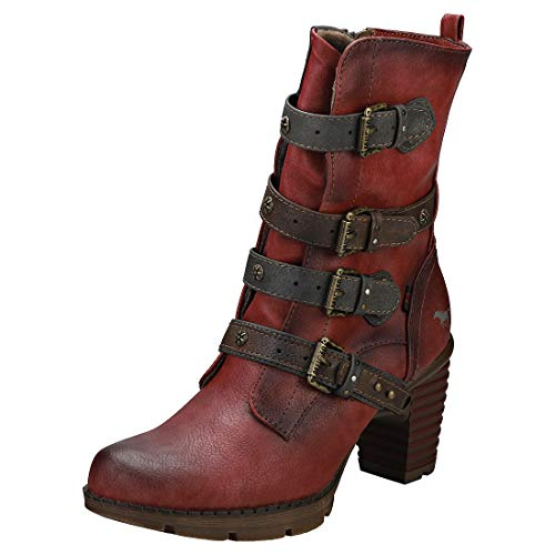 MUSTANG Damen 1292-501-5 Stiefeletten, Rot (Rot 5), 39 EU