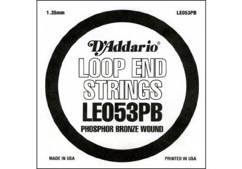 D'Addario LE053PB, cuerda individual de bronce fosforado con terminación de lazo.053