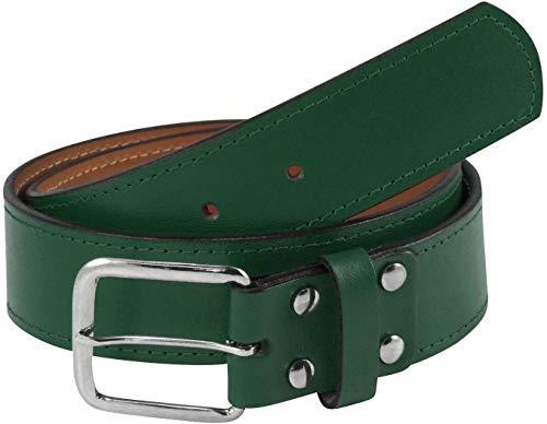 "TCK Premium Leather Baseball Softball Belt (Dark Green, 30"")"