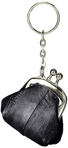 [ハレルヤ] イールスキン ミニ コインケース がま口 HAE011-Black ブラック