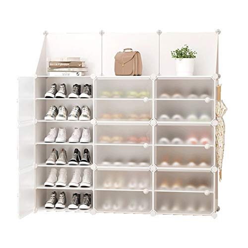 Bota de almacenamiento de zapatos para zapatos Organizador de almacenamiento Sistema de almacenamiento de caja de zapatos con puertas, zapatos, accesorios para zapatos portátiles para el armario orden