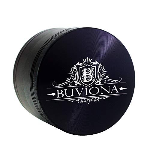 """Buviona Herb Grinder – Large 2.5"""" Herb Grinder with Pollen Catcher – Spice, Tobacco & Herbs Fine Grinder – Premium Metal…"""
