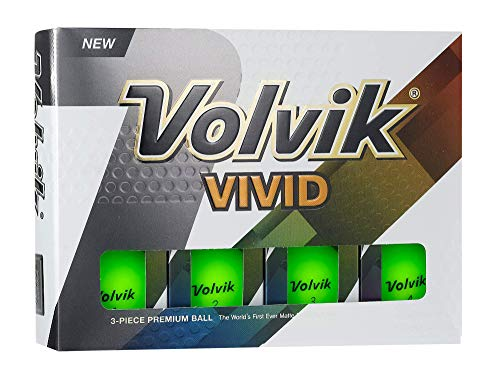 Volvik Vivid Golf Balls, Matte Green (One Dozen) - 9725
