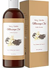 Very Vanilla Body Oil and Massage Oil for Couples - Aromatherapy Massage Oil for Massage Therapy with Natural Vanilla Scented Oil and Aromatherapy Oils Coconut Jojoba and Sweet Almond Oil for Skin