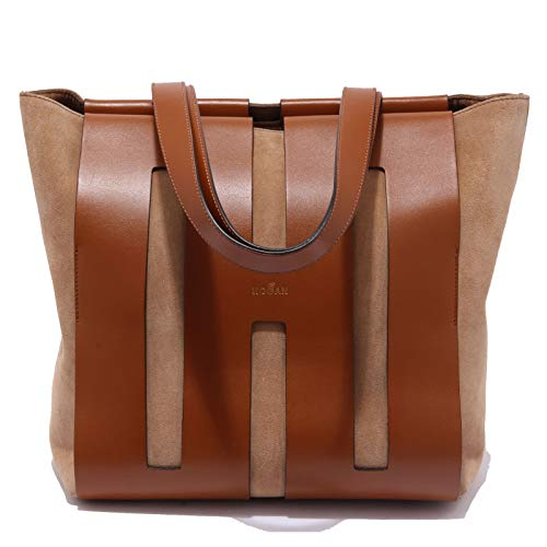 Hogan 0012AC borsa donna BI-BAG suede/leather brown tote bag women [ONE SIZE]