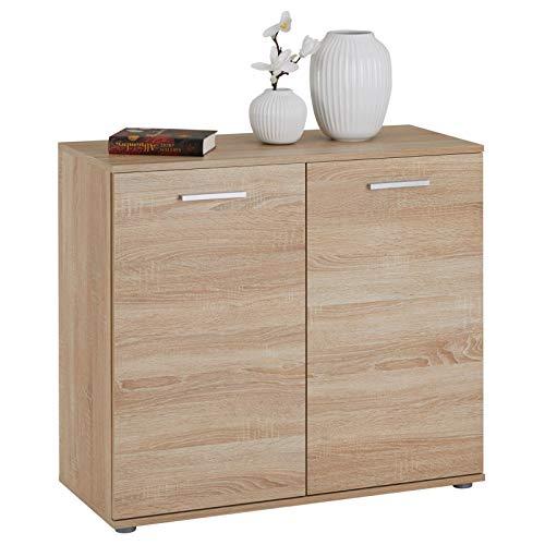 CARO-Möbel Kommode Chicago mit 2 Türen, Moderne Anrichte in Sonoma Eiche, Sideboard Mehrzweckschrank für Wohnzimmer