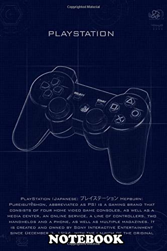 Notebook: Playstation With Blueprint Effects , Journal for Writing, College Ruled Size 6