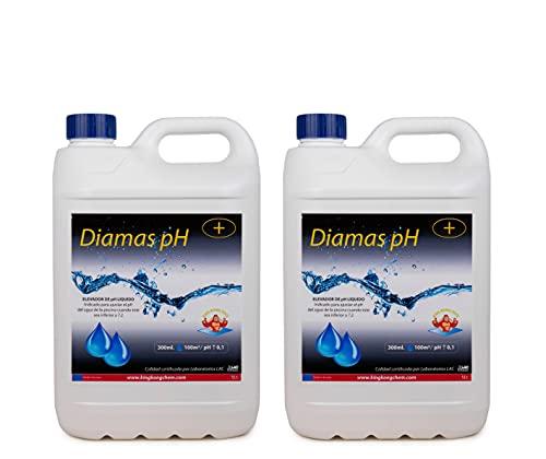 Pack 2 UDS - Elevador del pH para Piscinas DIAMAS PH 10 L (2x5 litros) – Tratamiento de Mejora de la Calidad del Agua – Formato Líquido