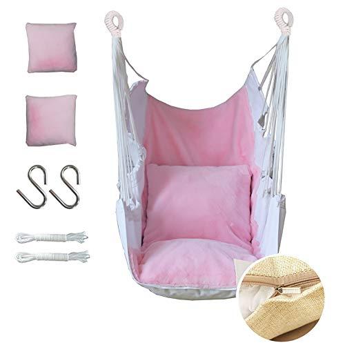 Balançoires YXX Rose Chaise hamac pour Adolescentes, Chaises pivotantes suspendues pour l'intérieur, la Maison ou Le Jardin - Charge 200kg, Lavable en Machine