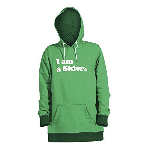 Line Kelly Green I Am A Skier Hoody