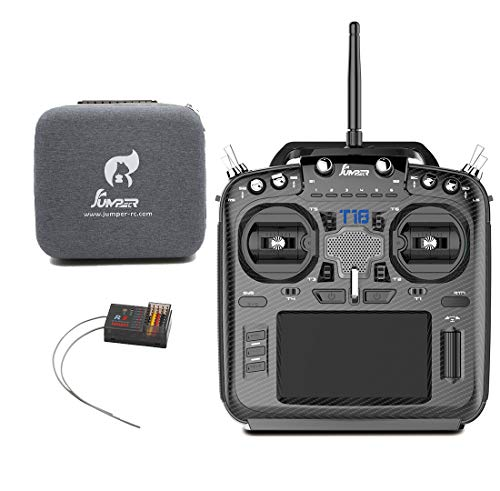 Jumper T18 Pro Radio Transmitter for Drone 868/915MHz RDC90 Sensor Gimbal 2.4G 16CH RC Controller with Open TX JP5-in-1 Multi-Protocol RF Module (T18 Pro with R8 RX)
