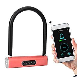 Bicicleta U Lock Contraseña inteligente Bluetooth U-lock Seguridad Bicicleta Moto Antirrobo Cerradura para bicicletas Motos