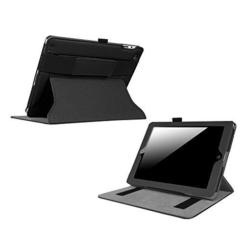 Fintie Case for iPad 2/3/4 - [Corner Protection] Multi-Angle Viewing, Headrest Stand Cover W/Elastic Hand Strap, Auto Sleep/Wake for iPad 4 with Retina Display/iPad 3 / iPad 2, Black