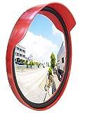 Miroir de signalisation résistant aux intempéries avec joint d'étanchéité - 60 cm - Pour entrée, garage