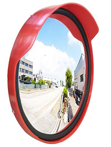 Specchio stradale resistente alle intemperie con guarnizione, specchio di sorveglianza, specchietto di sicurezza, specchio convesso, 60 cm, per vialetto, uscita, garage