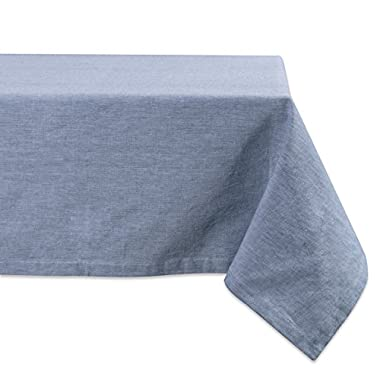 DII BLUE SOLID CHAMBRAY TABLECLOTH 60x120