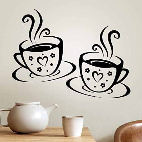Vasos adhesivos de vinilo para pared, cocina, café, decoración de azulejos, color...