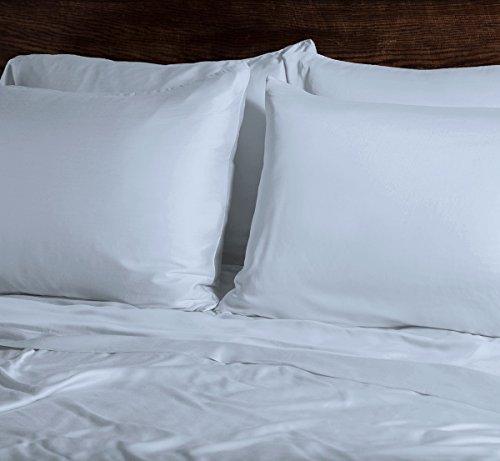 SHEEX Ecosheex Bamboo Origin Pillowcase, Set of 2, Ultra-Soft, Absorbent, Light Blue, Standard