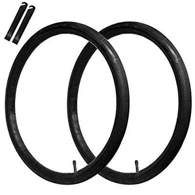 """CalPalmy (2 Pack) 28"""" x 1.75/1.95/2.125"""" Road and Mountain Bike Replacement Inner Tubes - Inner Tubes with 32mm Schrader Valve and 2 Free Tire Levers Compatible with Schwinn Hybrid Bike and Road Bike"""