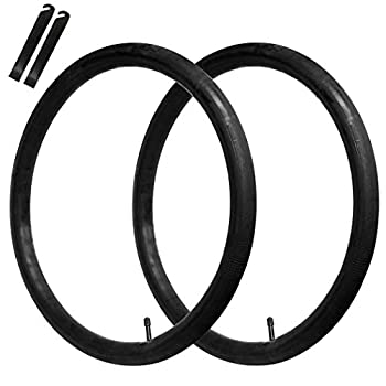 CALPALMY  2 Pack  26  x 1.75/1.95/2.125  Road and Mountain Bike Replacement Inner Tubes - Inner Tubes with 32mm Schrader Valve 2 Free Levers Compatible with Schwinn Bikes and Inner Tubes