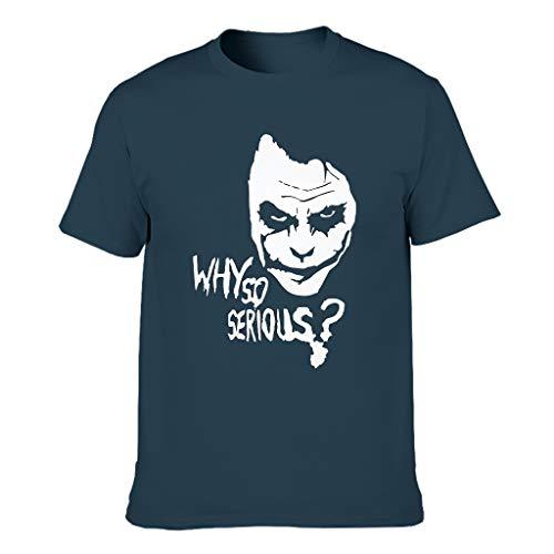Joker Gesicht, Warum so ernst Cool Kurzärmliges T-Shirt mit Arbeitskleidung für Unisex Gesicht Navy s