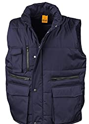 Outer: Polyester Pongee Ripstop with PVC Coating. Inner: 180gsm Polyester Fibre Wadding Windproof & Showerproof. Two triple acces front pockets, 1 chest pocket, 1 outside phone pocket and 1 inside pocket Actual width in cm S=56, M=60, L=64, XL=68, XX...