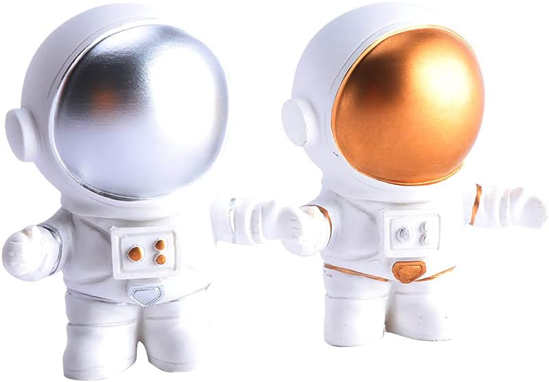 UYEAE Moon Spaceman Decorative Cake New products world's highest quality popular Desktop TableMiniatures Topp Max 84% OFF