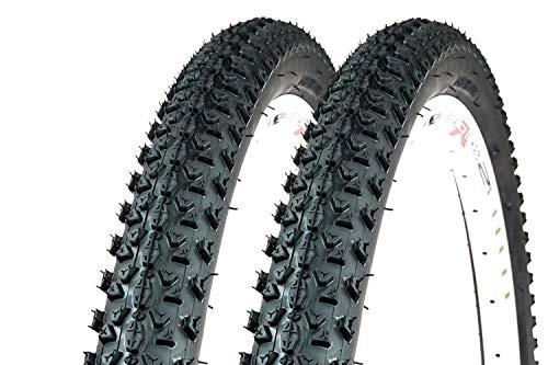 2 Stück 29 Zoll Fahrrad Reifen 54-622 MTB Tire 29x2.10 Mantel Decke Greenstone schwarz