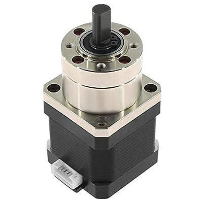 Fltaheroo 4-Lead Nema17 Stepper Motor 42 Motor Extruder Gear Stepper Motor Ratio 5.18:1 Planetary Gearbox Nema 17 17HS4401
