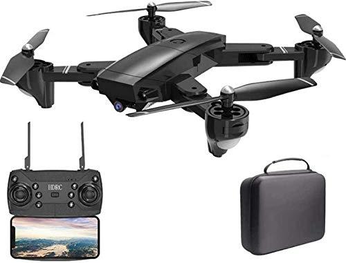 aipipl Plegable 120deg; Cámara HD Gran Angular 1080P, FPV WiFi Trayectoria Vuelo Altitud Mantener Modo sin Cabeza Retorno de una tecla 2 Baterías modulares Control de Aplicaciones Quadcopter, Bolsa