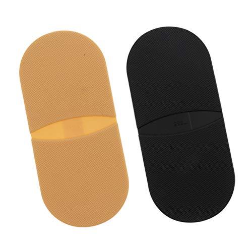 Harilla 2 Pares de Pegamento de Goma Antideslizante en Suelas, Almohadilla para Tacones, Reparación de Zapatos DIY, Piel Y Negro