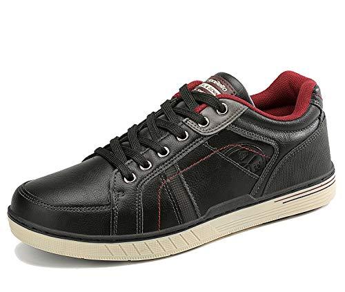 ARRIGO BELLO Freizeitschuhe Herren Sneakers Schuhe Wanderschuhe Walkingschuhe Berufsschuhe Sportschuhe Outdoor Leichtgewicht Trainers Größe 41-46(Schwarz, Numeric_44)