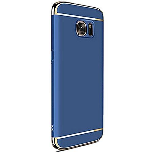 Teryei Funda Huawei Samsung Galaxy S6 Edge Plus 3 in 1 alta calidad ultra fina Protector completo PC carcasa Shell Negro Cáscara Dura Case para Samsung Galaxy S6 Edge Plus (azul)