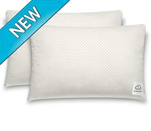 KLOUDES Adjustable Pillow | Best Pillows for Sleeping | Helps Reduce Neck & Shoulder Pain During Sleep CertiPUR-US Certified Safe Memory Foam (Standard Set of 2)