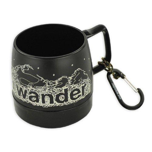 and wander(アンドワンダー) DINEX printed mug black